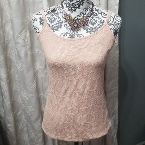 NWT Ann Taylor Loft Classy Lace front Camisole